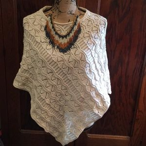 Sweaters - Soft Cotton Poncho